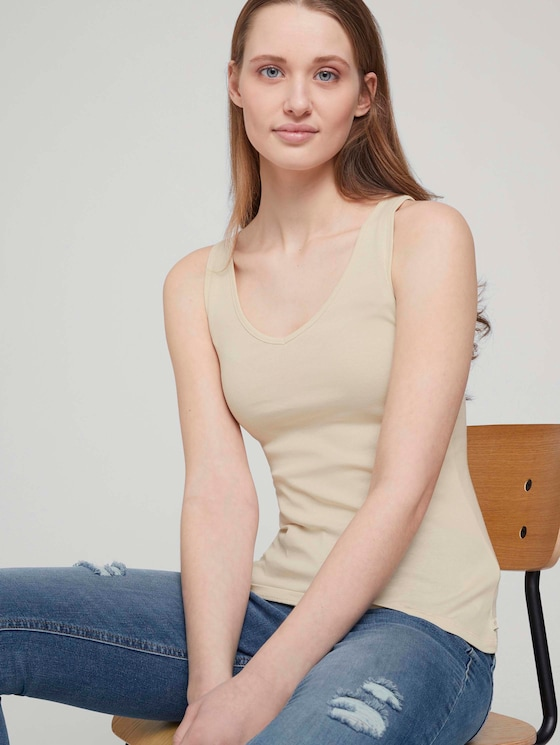 Basic Top - Frauen - soft creme beige - 5 - TOM TAILOR Denim