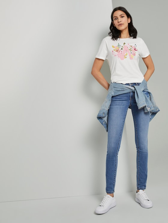 Alexa slim jeans  - Women - Clean Light Stone Blue Denim - 3 - TOM TAILOR