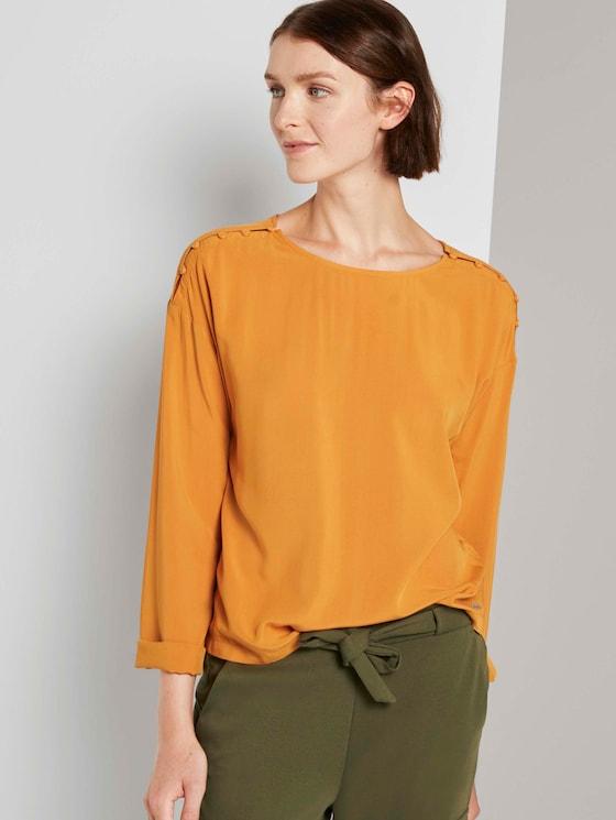 Lockere Bluse mit Knopfleisten - Frauen - orange yellow - 5 - TOM TAILOR Denim