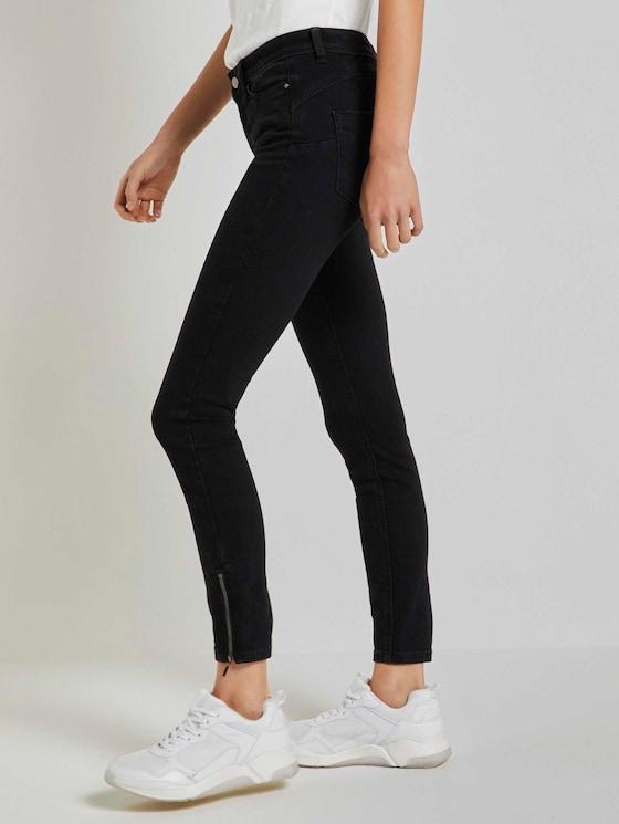Jona Extra Skinny Jeans mit Reißverschlussdetail - Frauen - used dark stone black denim - 3 - TOM TAILOR Denim