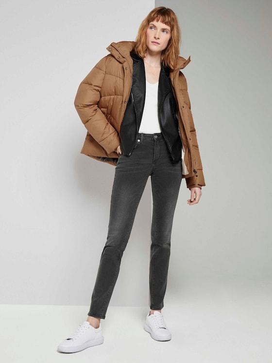 Alexa Slim Jeans - Vrouwen - used dark stone grey denim - 3 - TOM TAILOR