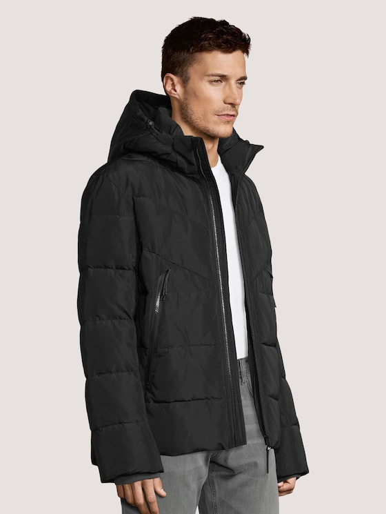 Pufferjacke mit Steppmuster - Männer - Black - 5 - TOM TAILOR Denim
