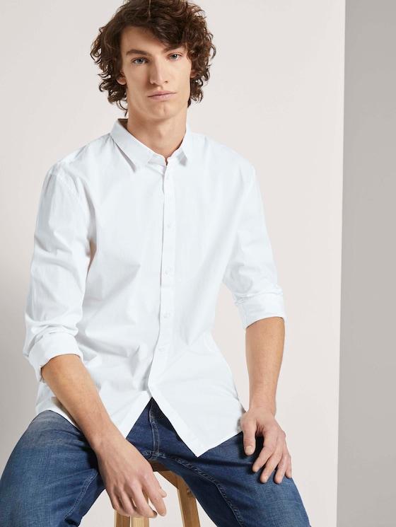 Slim stretch overhemd - Mannen - White - 5 - TOM TAILOR Denim