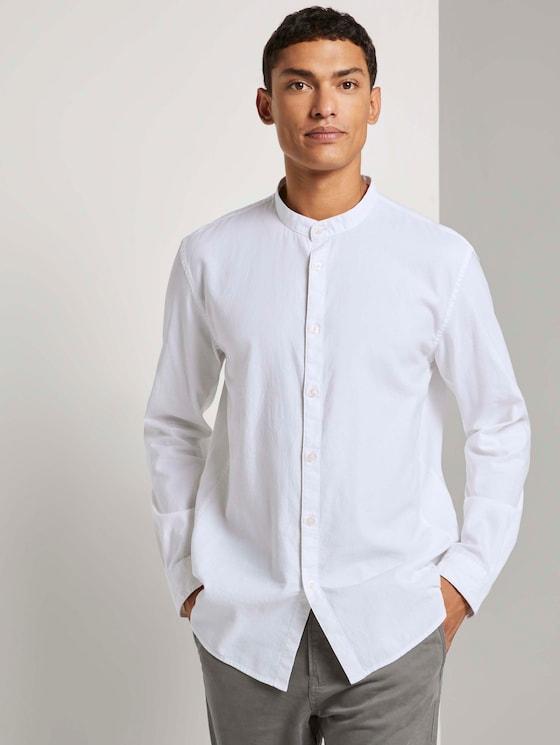 Feines Stehkragenhemd - Männer - White - 5 - TOM TAILOR Denim