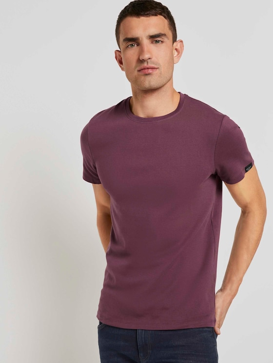 Basic T-Shirt - Männer - Dusty Wildberry Red - 5 - TOM TAILOR