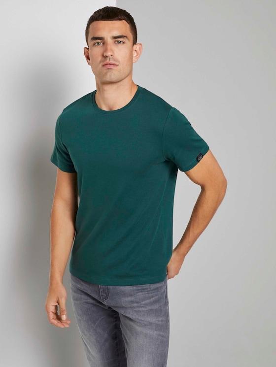 Basic T-Shirt - Männer - Stroke Green - 5 - TOM TAILOR