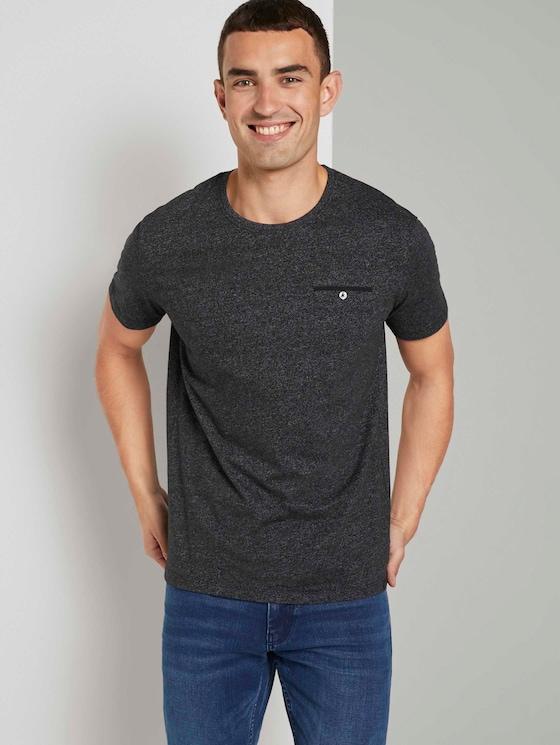 Gemustertes T-Shirt - Männer - Black - 5 - TOM TAILOR