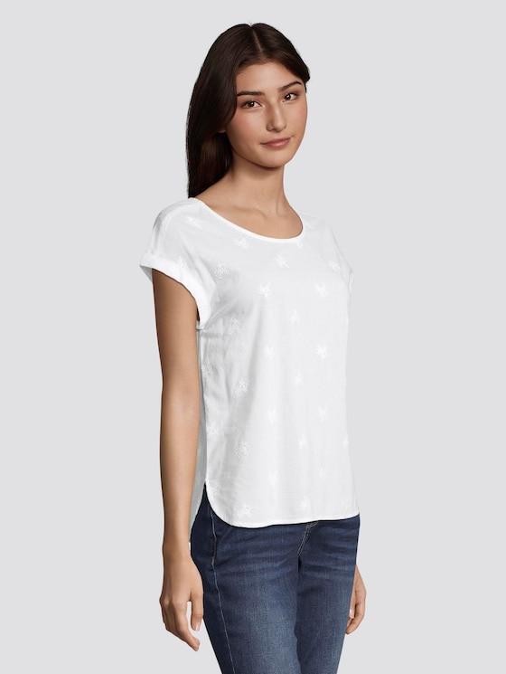 Sommerliche Bluse mit ganzflächiger Stickerei - Frauen - White - 5 - TOM TAILOR Denim