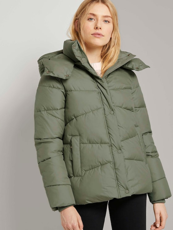 Puffer Winterjacke - Frauen - greyish green - 5 - TOM TAILOR