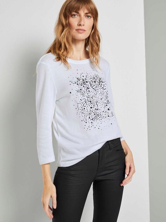 3/4 Arm Shirt mit Print - Frauen - Whisper White - 5 - TOM TAILOR