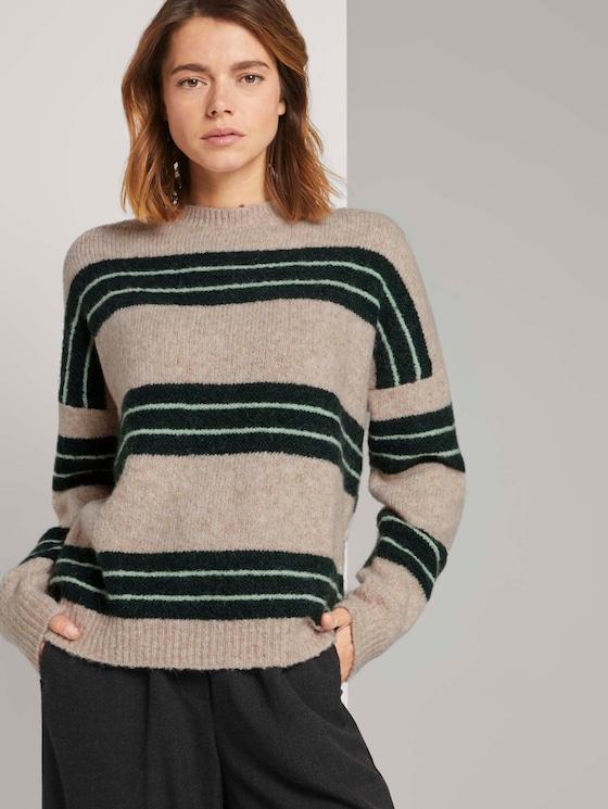 Gestreepte trui - Vrouwen - beige green stripe - 5 - TOM TAILOR Denim