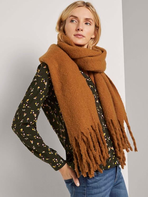 Grober Schal mit Fransen - Frauen - tawny brown - 5 - TOM TAILOR