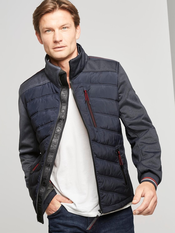 Hybrid Steppjacke mit Softshelleinsatz - Männer - Sky Captain Blue - 5 - TOM TAILOR