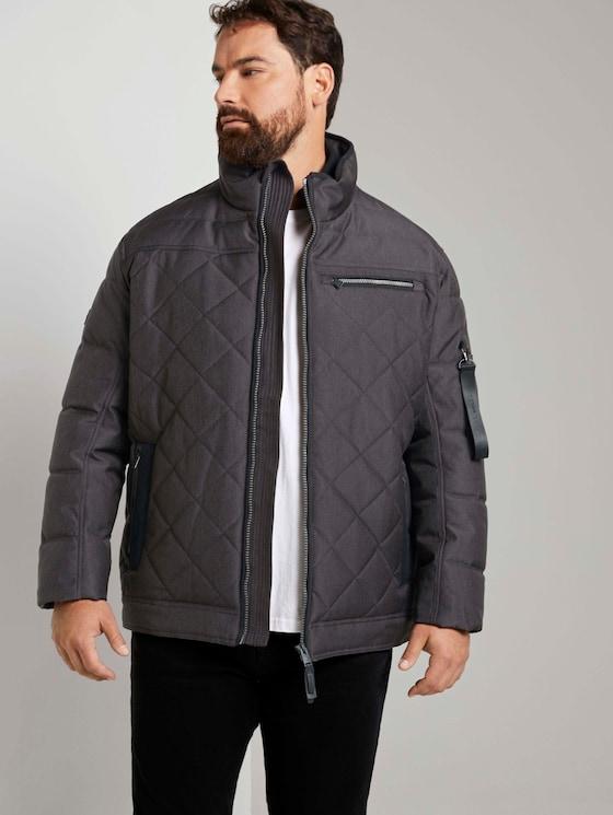 gesteppte Blouson-Jacke - Männer - Grey Structure Jacket - 5 - Men Plus