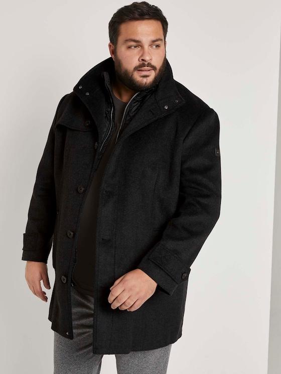 Mantel mit Steppjacken-Einsatz - Männer - Black - 5 - Men Plus