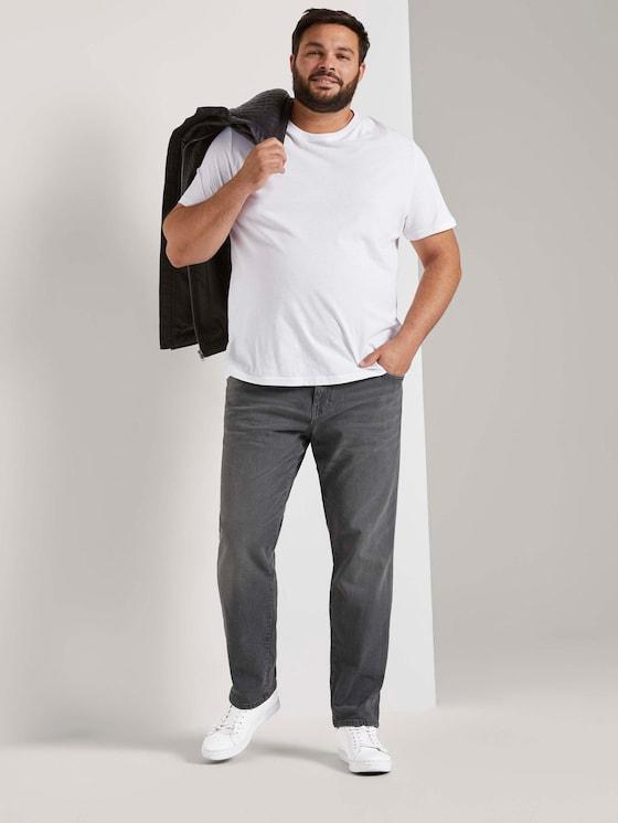 Regular slim jeans - Men - grey denim - 3 - Men Plus