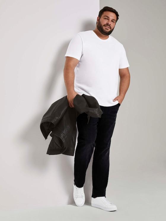 Regular Slim Jeans - Mannen - black stone wash denim - 3 - Men Plus