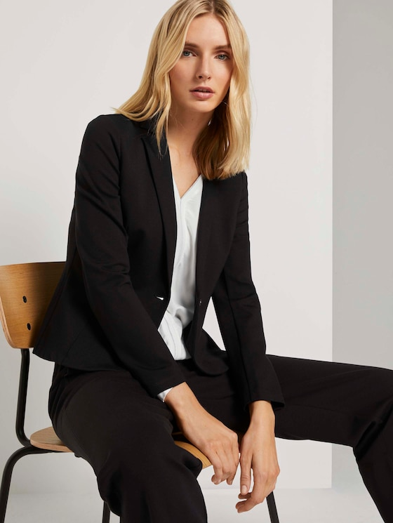 Casual Blazer - Frauen - Deep Black - 5 - TOM TAILOR