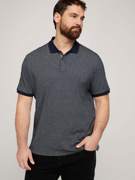 Poloshirt mit Birdseye-Muster - Männer - Dark Blue - 5 - Men Plus