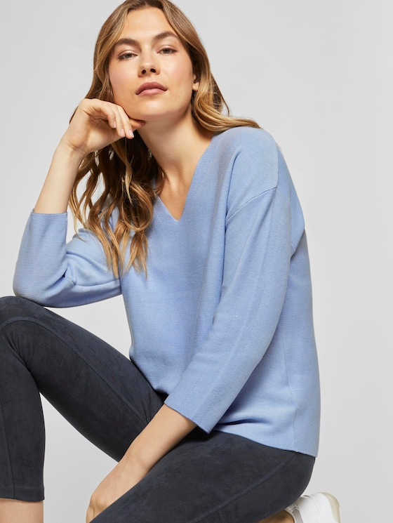 Pullover mit 3/4-Arm - Frauen - sea blue - 5 - TOM TAILOR