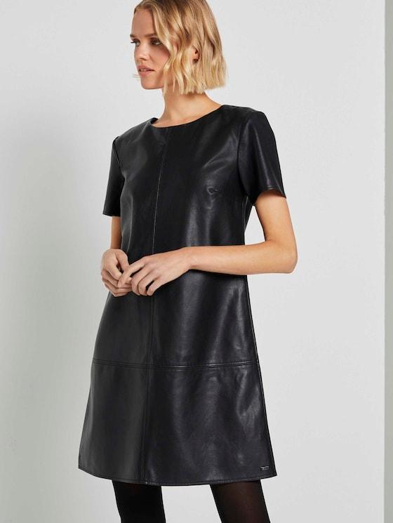 Minikleid aus Kunstleder - Frauen - Deep Black - 5 - TOM TAILOR Denim