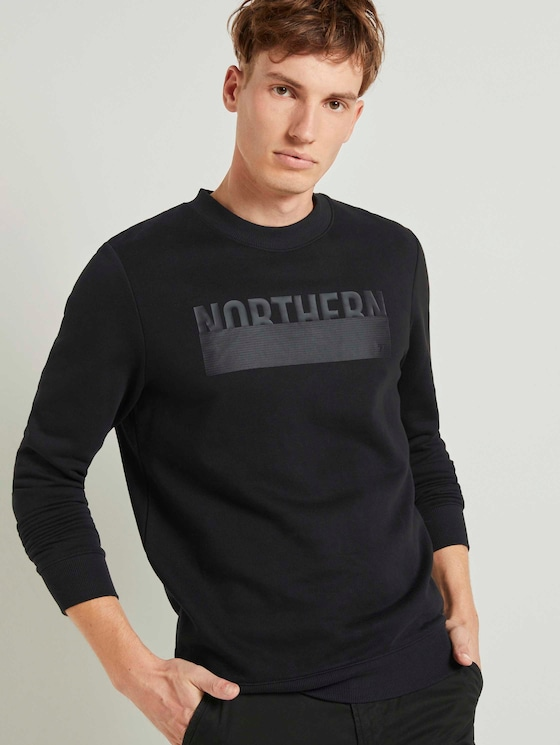 Sweatshirt mit Print - Männer - Black - 5 - TOM TAILOR Denim
