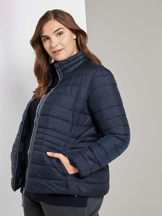 Lichtgewicht gewatteerde jas met opstaande kraag - Vrouwen - Sky Captain Blue - 5 - My True Me