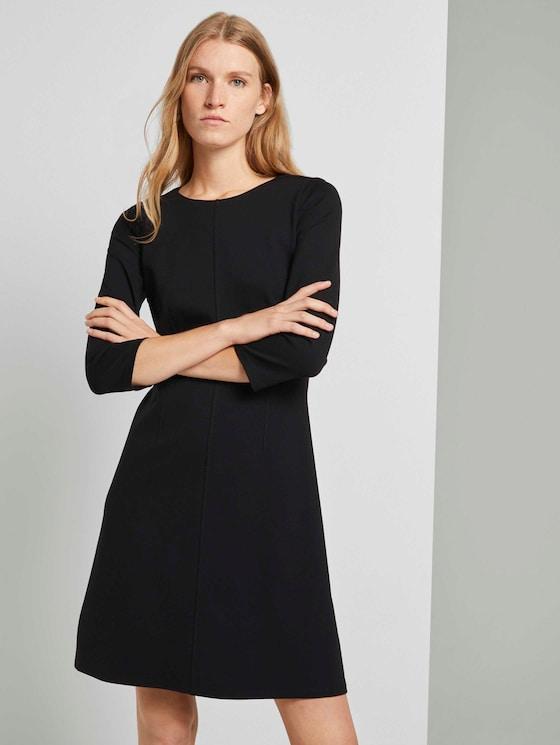 Kleid mit Ziernähten - Frauen - Deep Black - 5 - TOM TAILOR