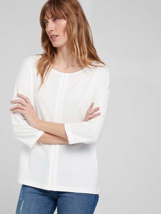 Langarmshirt mit Bio-Baumwolle  - Frauen - Whisper White - 5 - TOM TAILOR