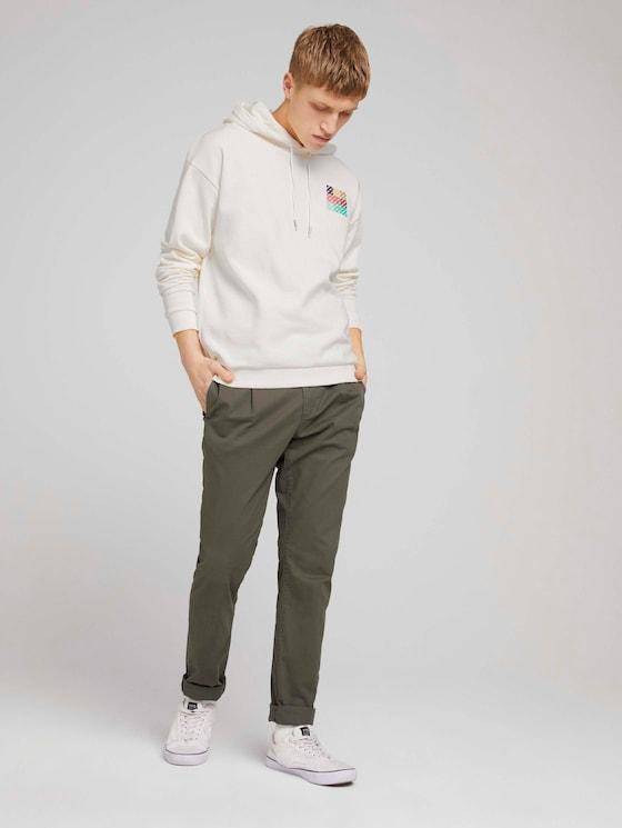 Slanke chino broek met stretch - Mannen - Woodland Green - 3 - TOM TAILOR Denim