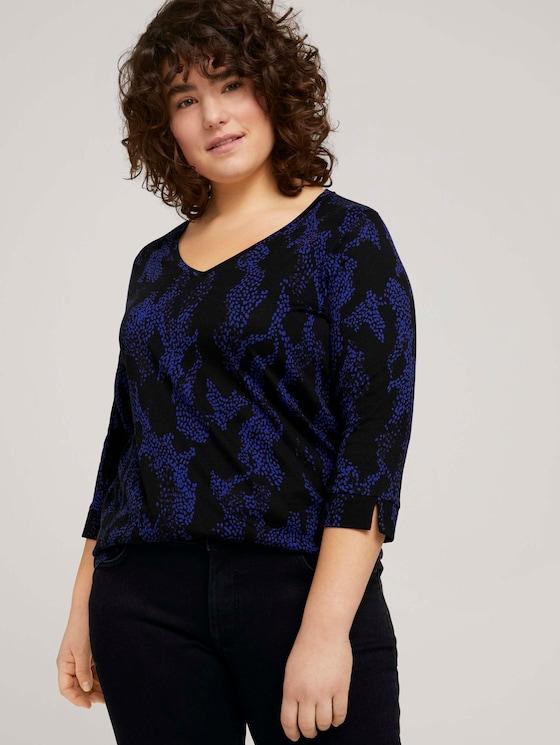T-Shirt mit V-Ausschnitt - Frauen - abstract dot pattern - 5 - My True Me