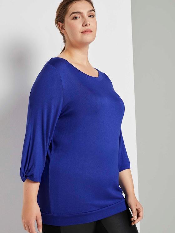 Shirt mit Ballonärmeln - Frauen - crest blue - 5 - My True Me