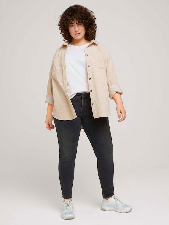 Skinny Jeans Hyperflex - Frauen - clean mid stone grey denim - 3 - My True Me