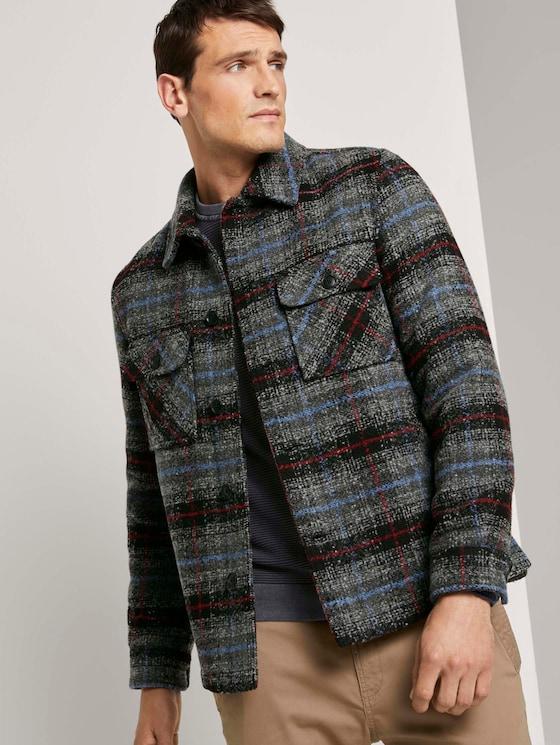 Hemdjacke mit Steppfutter - Männer - blue grey check - 5 - TOM TAILOR