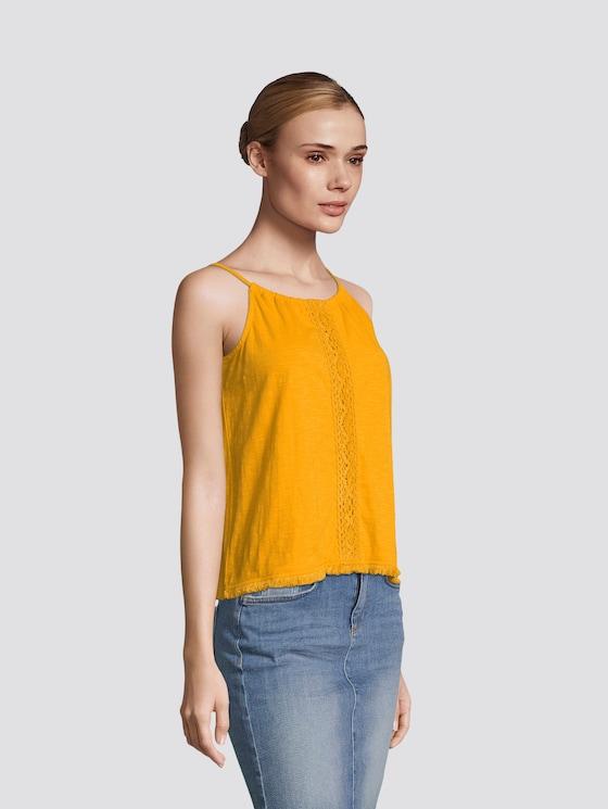 Neckholder Top mit Tasseln - Frauen - orange yellow - 5 - TOM TAILOR Denim