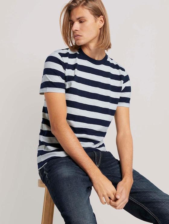 gestreiftes T-Shirt - Männer - navy regular yarn dye stripe - 5 - TOM TAILOR Denim