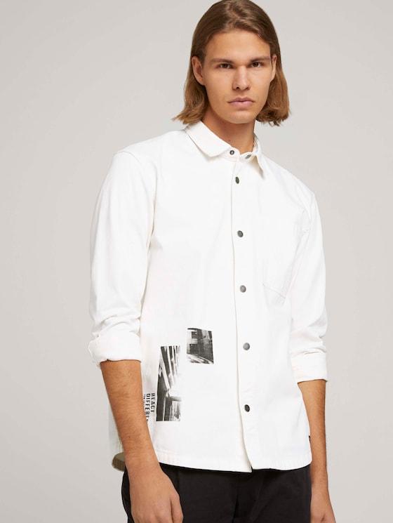 Foto Print Overhemd - Mannen - Wool White - 5 - TOM TAILOR Denim