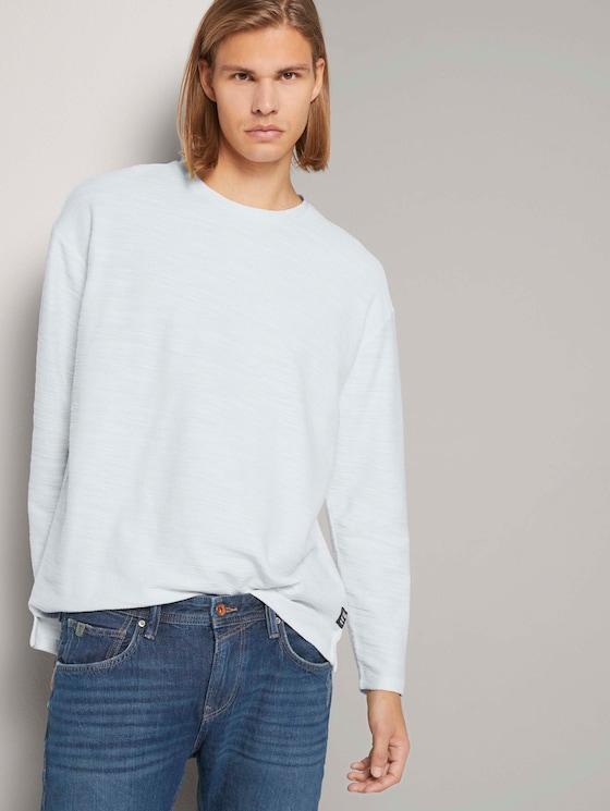 Basic Langarmshirt - Männer - Wool White - 5 - TOM TAILOR Denim