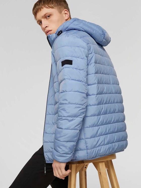 Lightweight Jacke mit abnehmbarer Kapuze - Männer - Foggy Blue - 5 - TOM TAILOR Denim