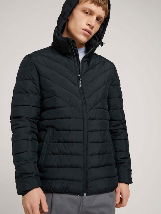 Lightweight Jacke mit abnehmbarer Kapuze - Männer - Black - 5 - TOM TAILOR Denim