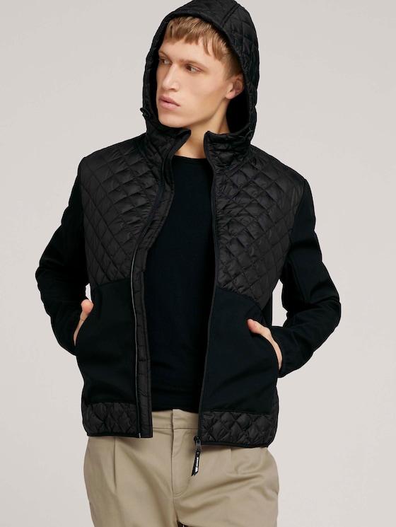 Hybrid Jacke mit Steppung - Männer - Black - 5 - TOM TAILOR Denim