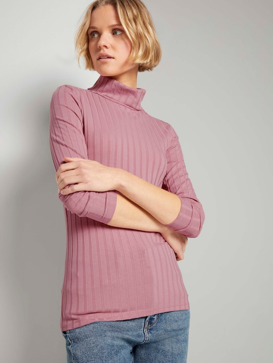Langarmshirt mit Rollkragen - Frauen - cozy rose - 5 - TOM TAILOR Denim