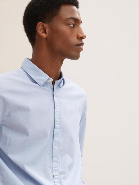 Slim Fit Hemd mit Struktur - Männer - light blue white structure - 5 - TOM TAILOR