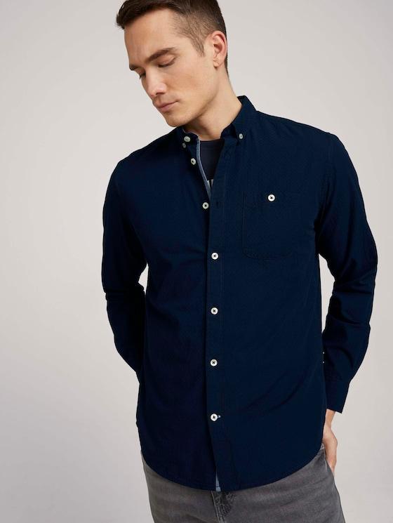 Hemd mit Bio-Baumwolle  - Männer - Dark Blue - 5 - TOM TAILOR