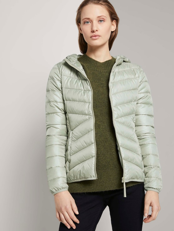 Lightweight Steppjacke mit Kapuze - Frauen - light olive - 5 - TOM TAILOR Denim