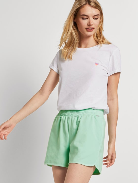 T-Shirt mit Farbverlauf-Print - Frauen - White - 5 - TOM TAILOR Denim