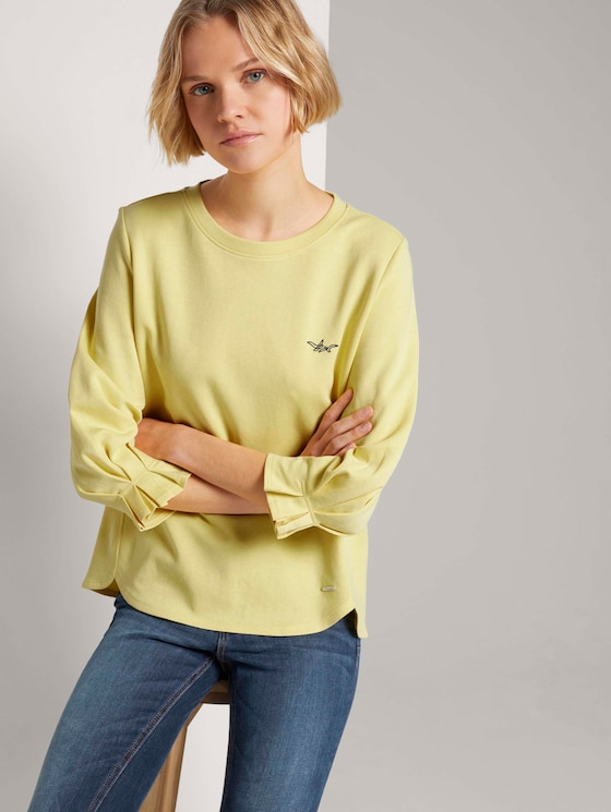 Sweatshirt mit Ärmeldetail - Frauen - honey popcorn - 5 - TOM TAILOR Denim