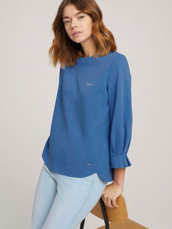 Sweatshirt mit Bio-Baumwolle - Frauen - mid blue - 5 - TOM TAILOR Denim