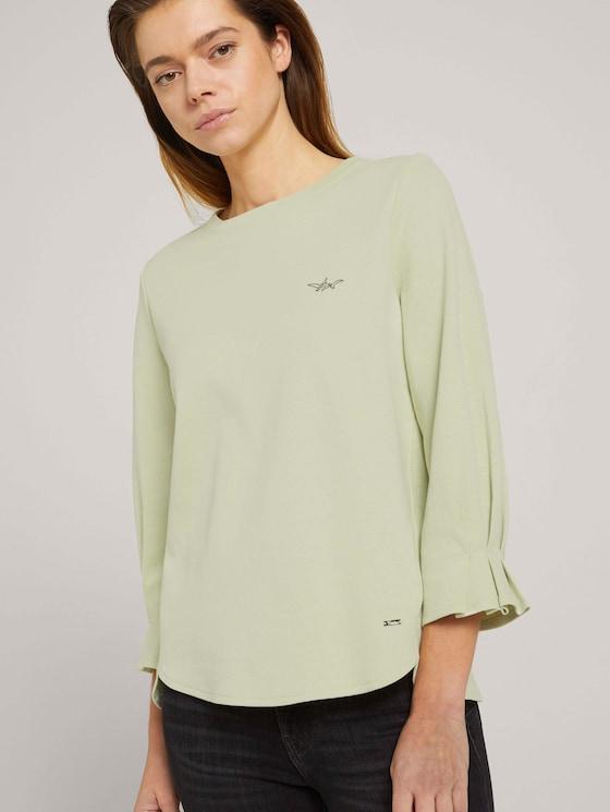 Sweatshirt mit Bio-Baumwolle - Frauen - light dusty green - 5 - TOM TAILOR Denim