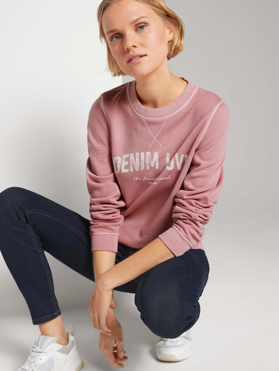 Sweatshirt mit Print - Frauen - cozy rose - 5 - TOM TAILOR Denim